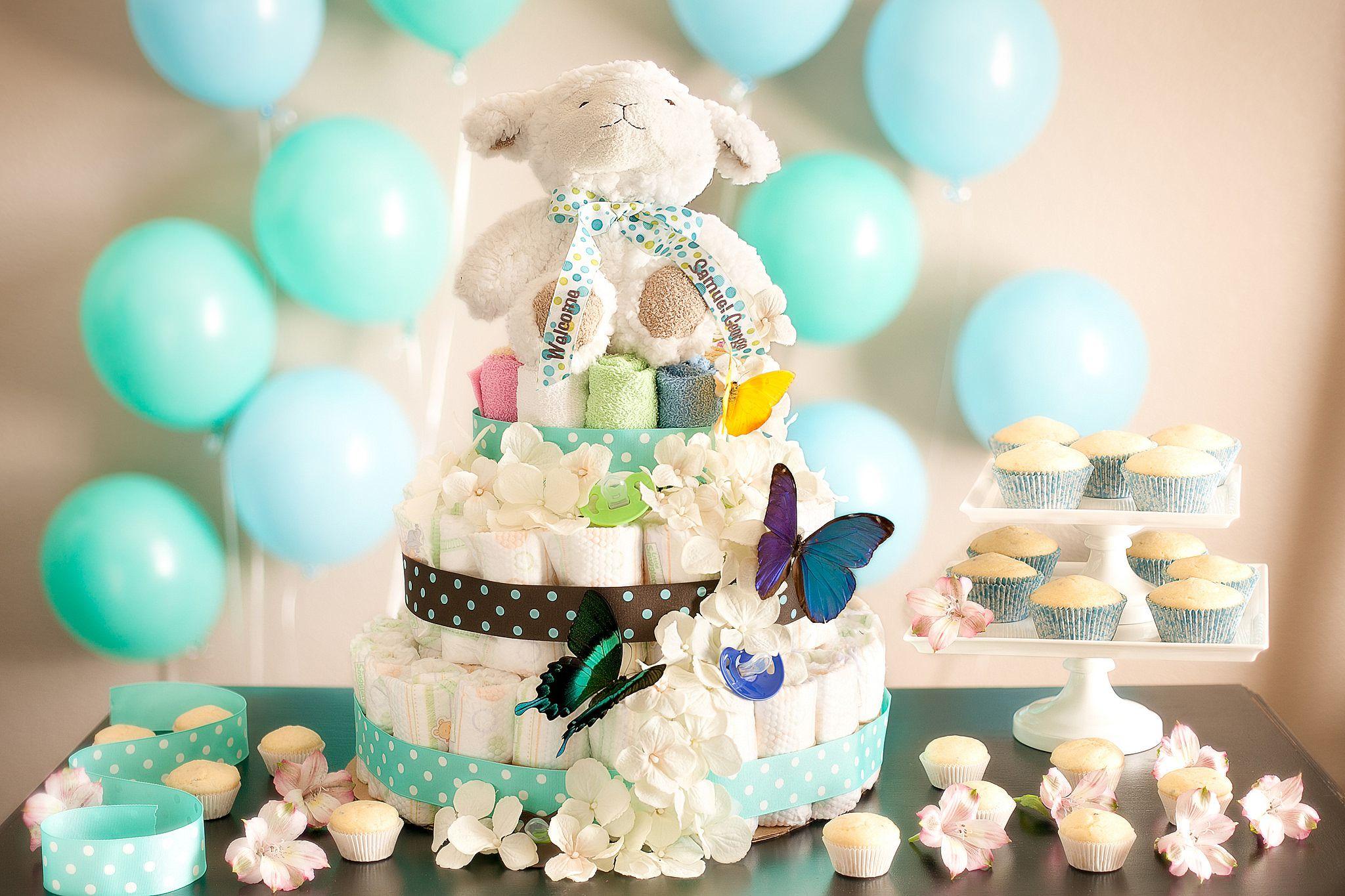 Gâteau de couche décoré
