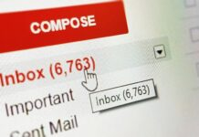 Capture d'écran de l'interface Gmail