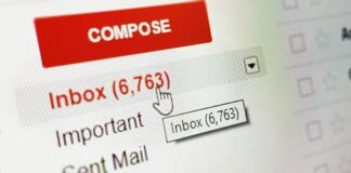 Capture d'écran de l'interface Gmail