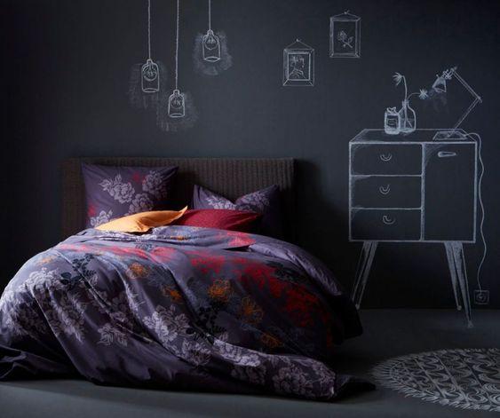 Tête de lit en peinture pour craie