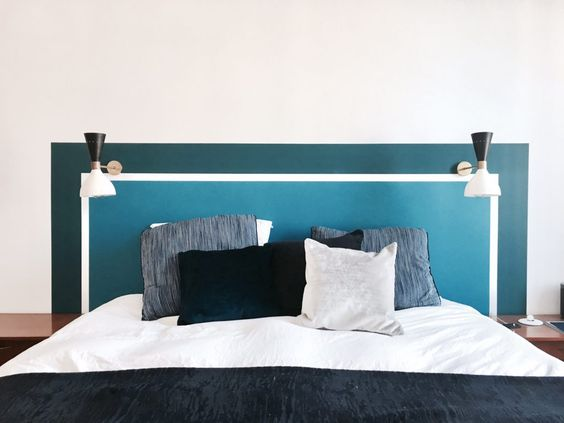 Tête de lit en peinture