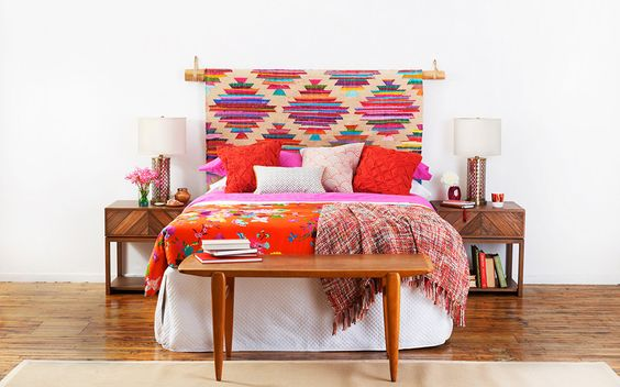 Tête de lit avec un tapis