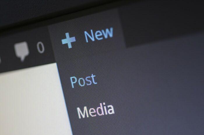Capture écran interface WordPress pour ajouter du contenu