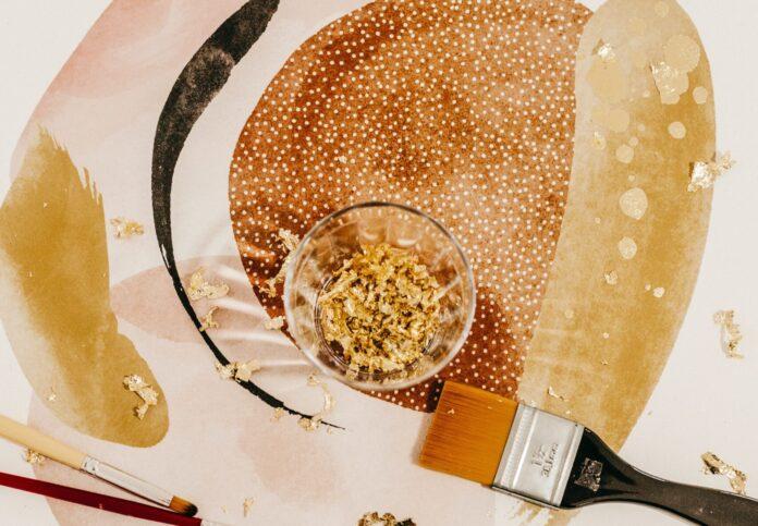 Photo pinceau peinture marron
